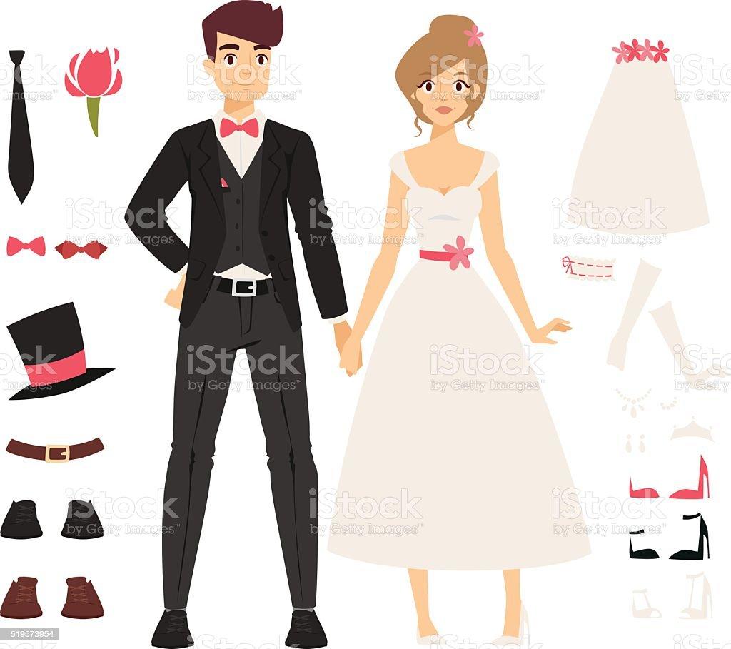 Wedding couple people vector illustration vector art illustration