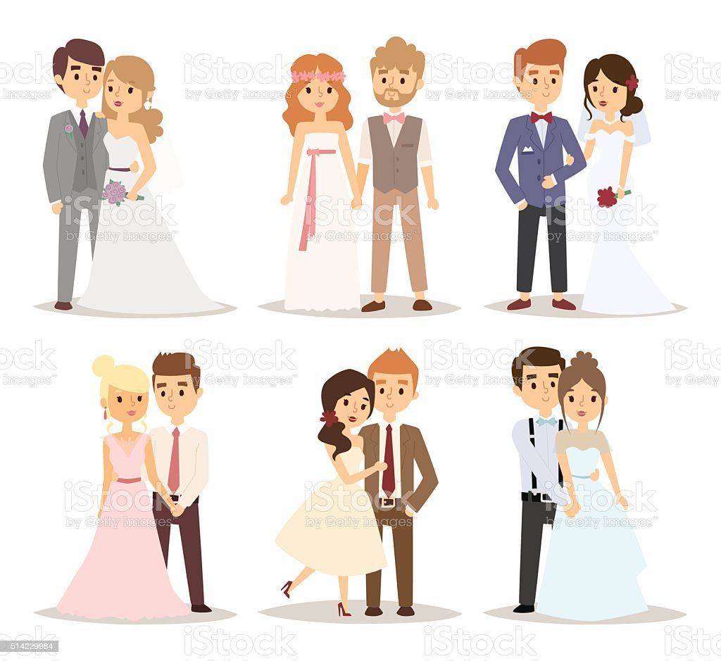 Wedding couple vector illustration vector art illustration