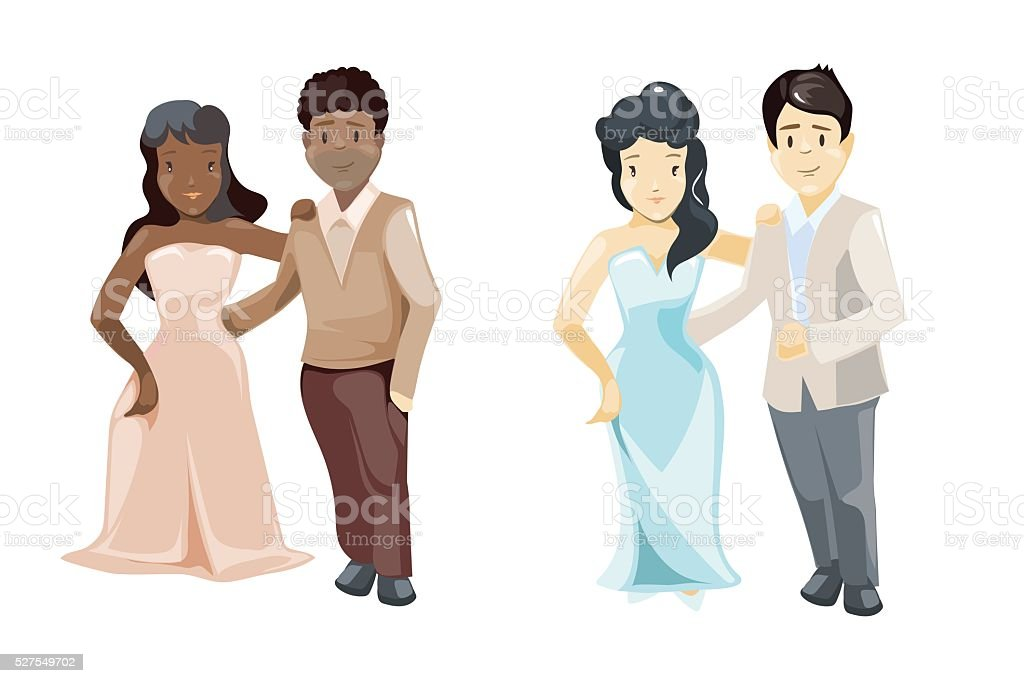 Wedding couple vector illustration. vector art illustration