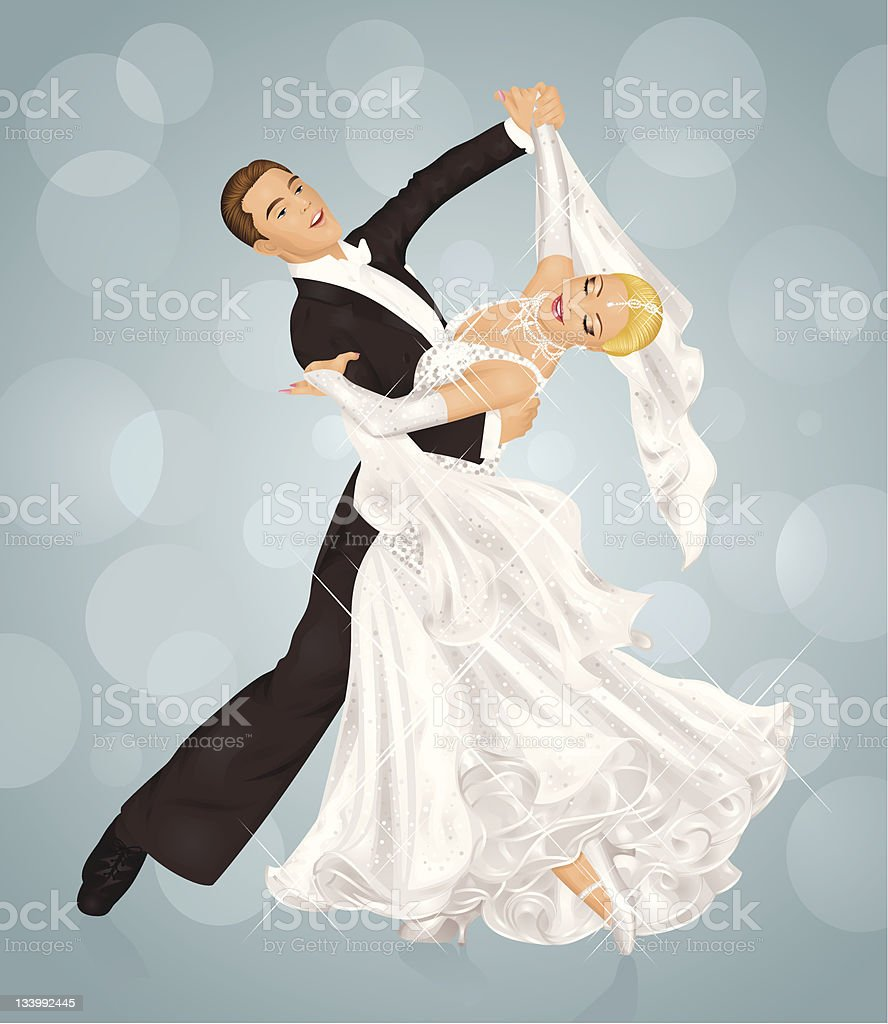 Wedding dance. royalty-free stock vector art