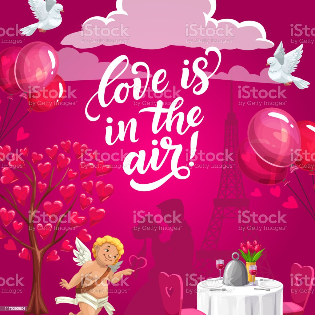 Wedding Day Party Cupids Rings Flower Bouquets Stock Illustration Download Image Now Istock