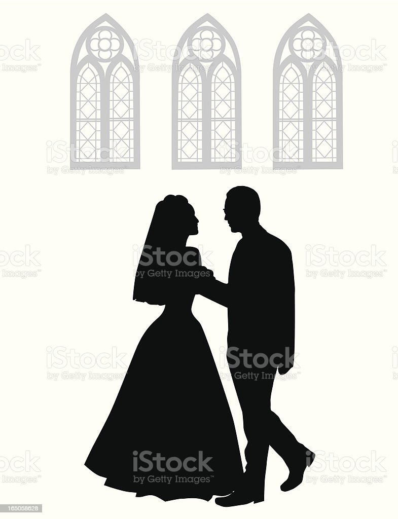 Wedding Day Vector Silhouette royalty-free wedding day vector silhouette stock vector art & more images of adult