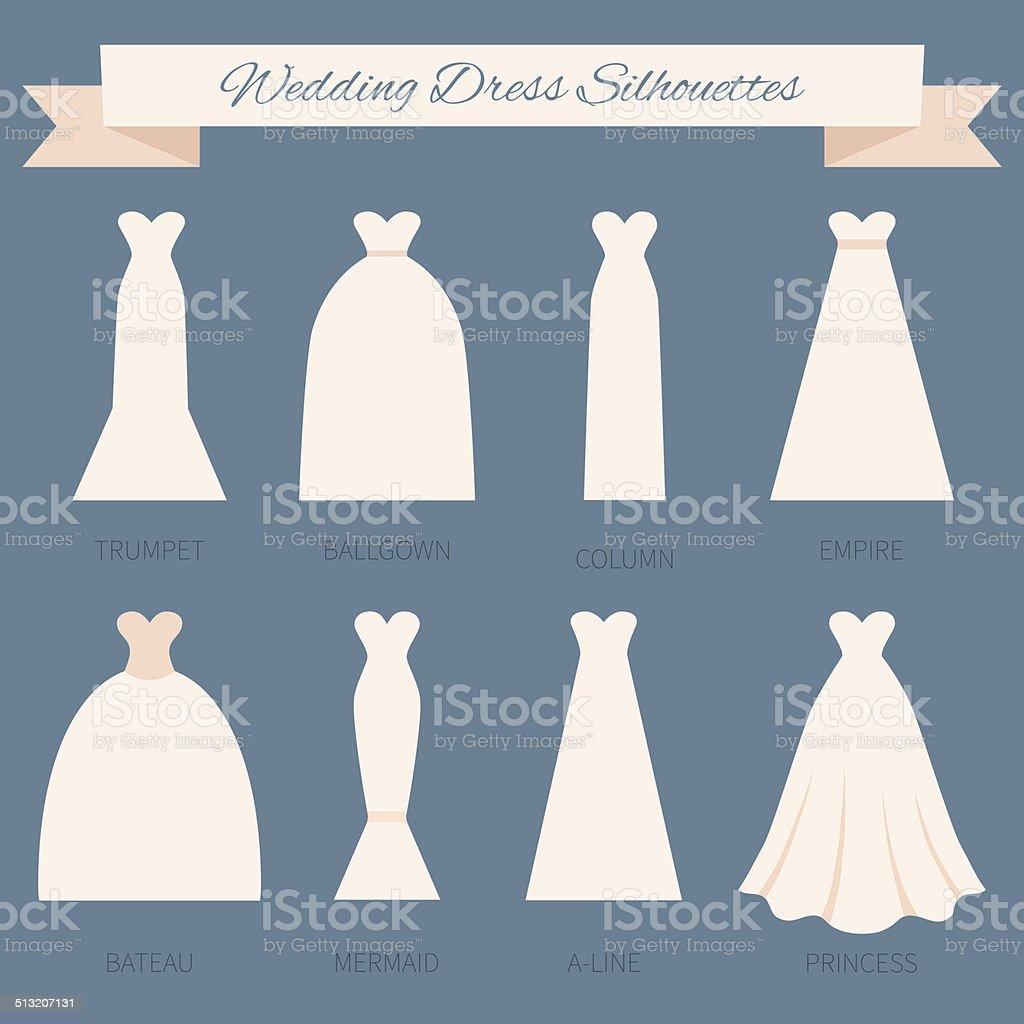Wedding Dress Style Stock Illustration   Download Image Now   iStock