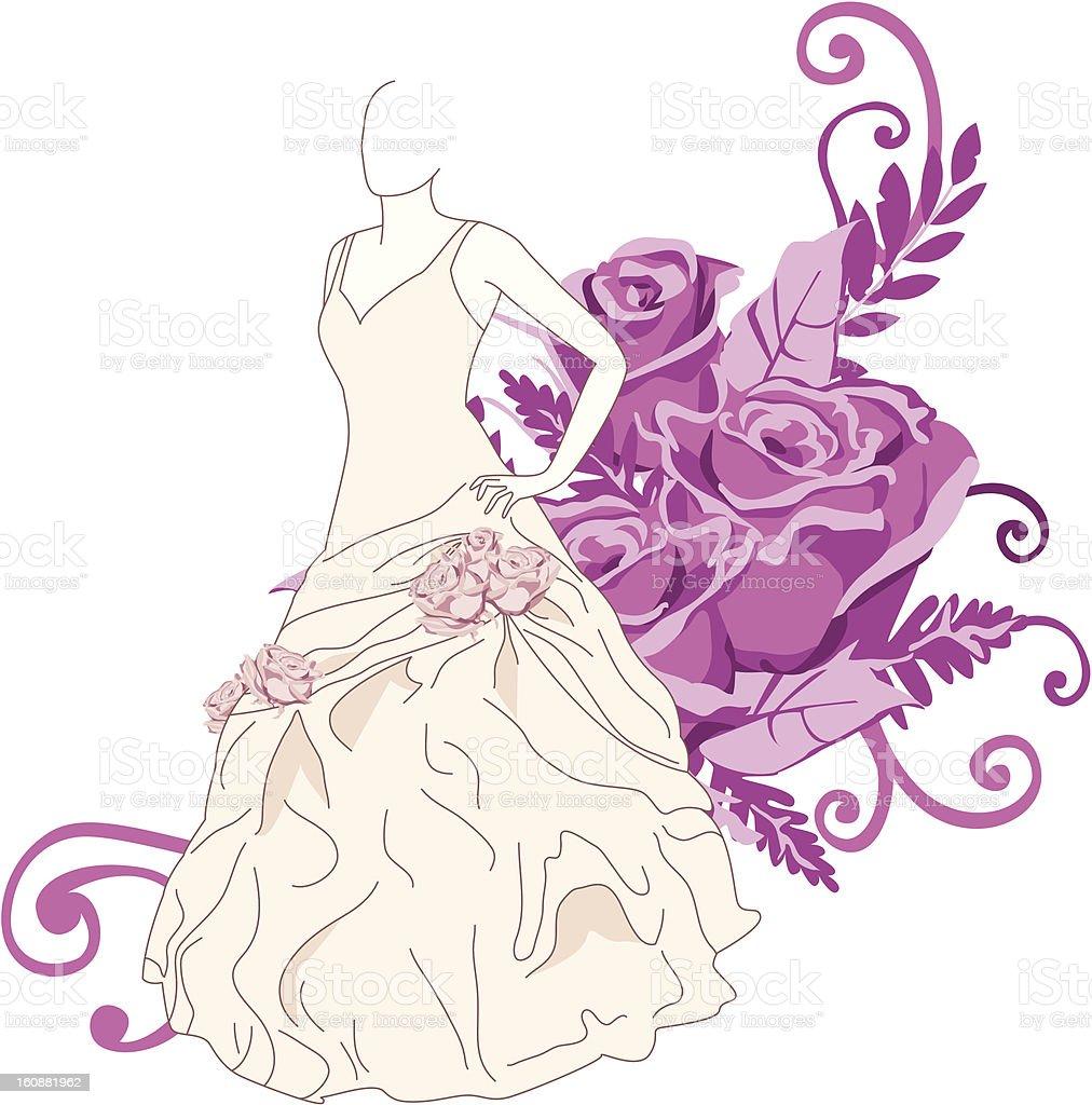 Wedding dress royalty-free wedding dress stock vector art & more images of art
