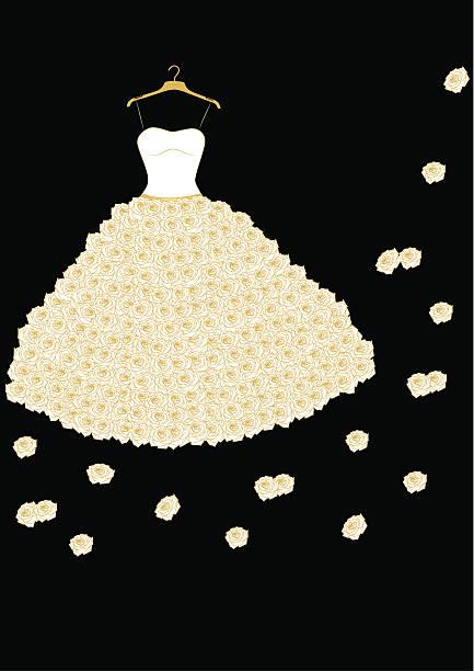hochzeitskleid - rosenhochzeitskleider stock-grafiken, -clipart, -cartoons und -symbole