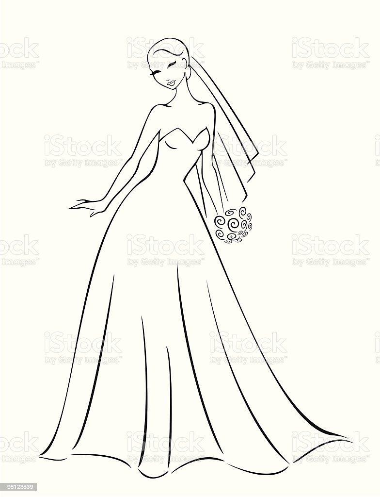 Wedding Dress royalty-free wedding dress stock vector art & more images of adult