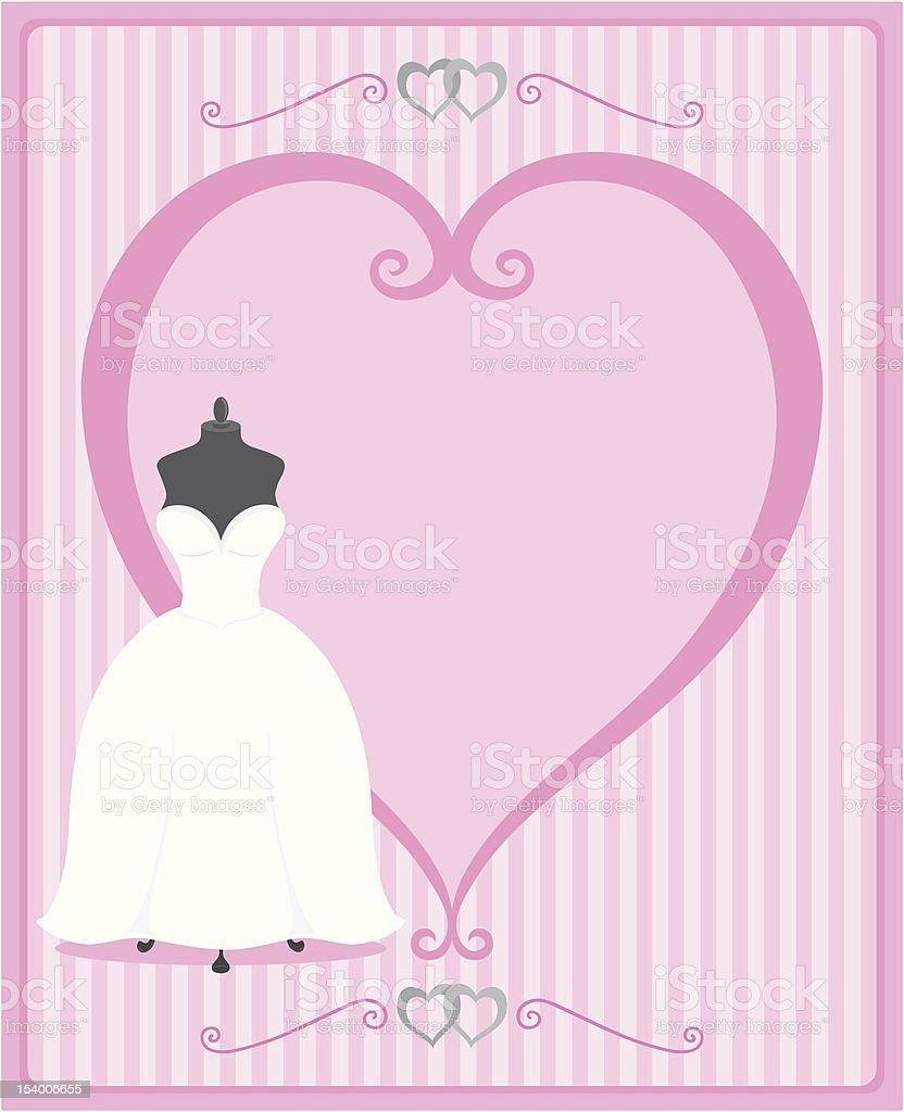 Hochzeit Kleid Mit Herzförmigen Rahmen In Rosatöne Stock Vektor Art ...