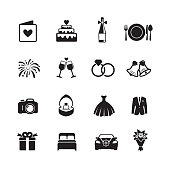Wedding & Engagement Icons.