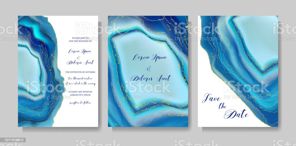 Wedding fashion geode or marble template, artistic covers design, colorful texture, realistic backgrounds. Trendy pattern, geometric brochure, save the date cards, graphic poster. Vector illustration. vector art illustration