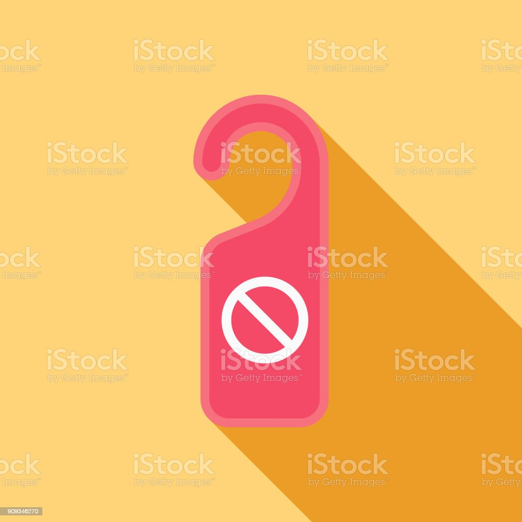 Wedding Flat Design Do Not Disturb Icon with Side Shadow vector art illustration