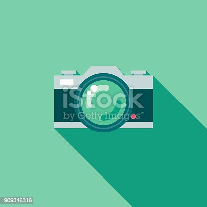 istock Wedding Flat Design Photography Icon with Side Shadow 909346316