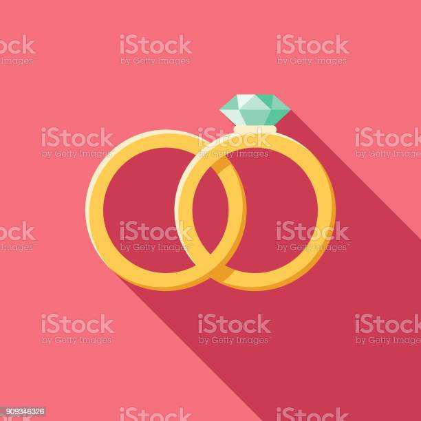 Wedding flat design rings icon with side shadow vector id909346326?b=1&k=6&m=909346326&s=612x612&h=at8qukibwqnspaxb8dvgfk9b 3kpvqwb u conpdwim=