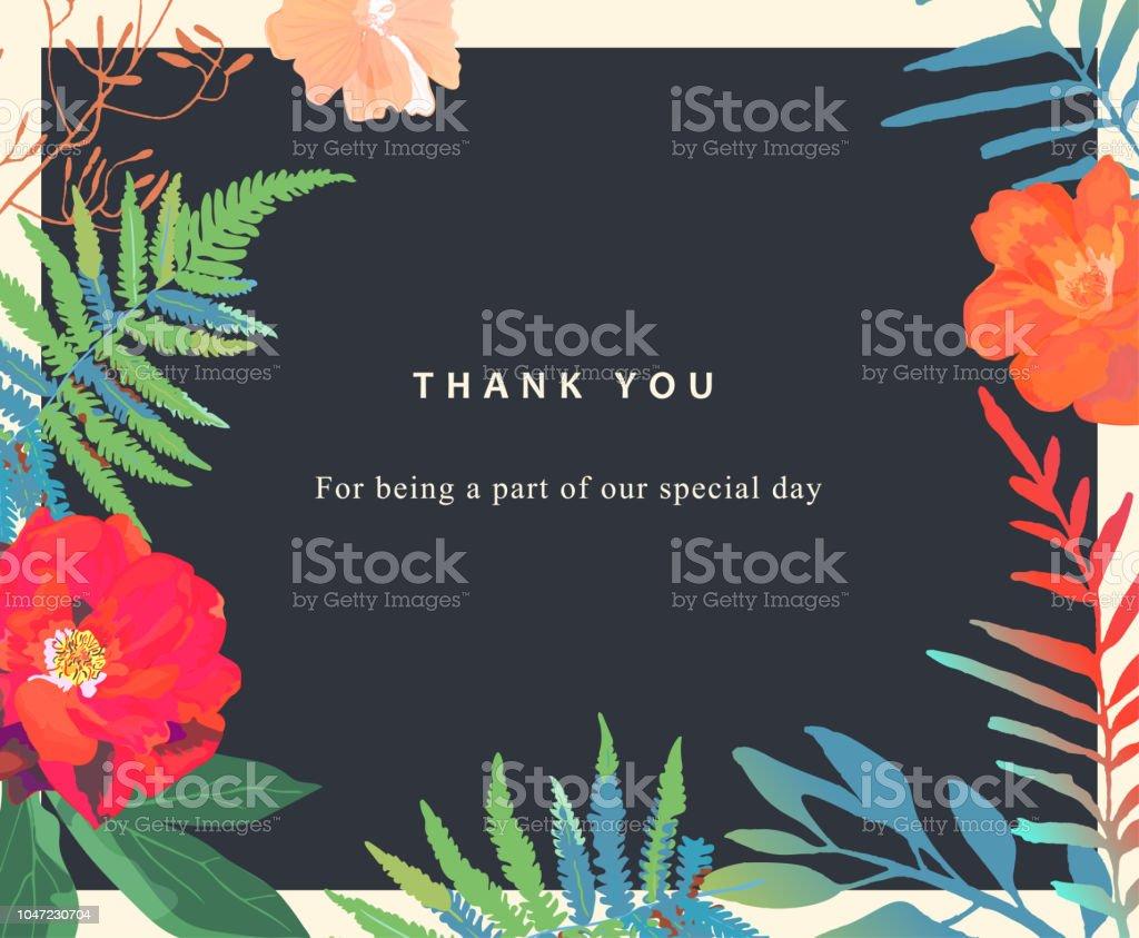 Hochzeit Blumen Hintergrund Bunte Einladung Karten Drucke Stock