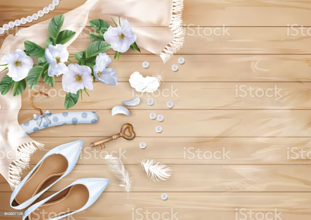 Wedding Floral Background vector art illustration