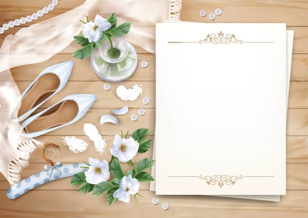 wedding floral background - bachelorette party stock illustrations, clip art, cartoons, & icons