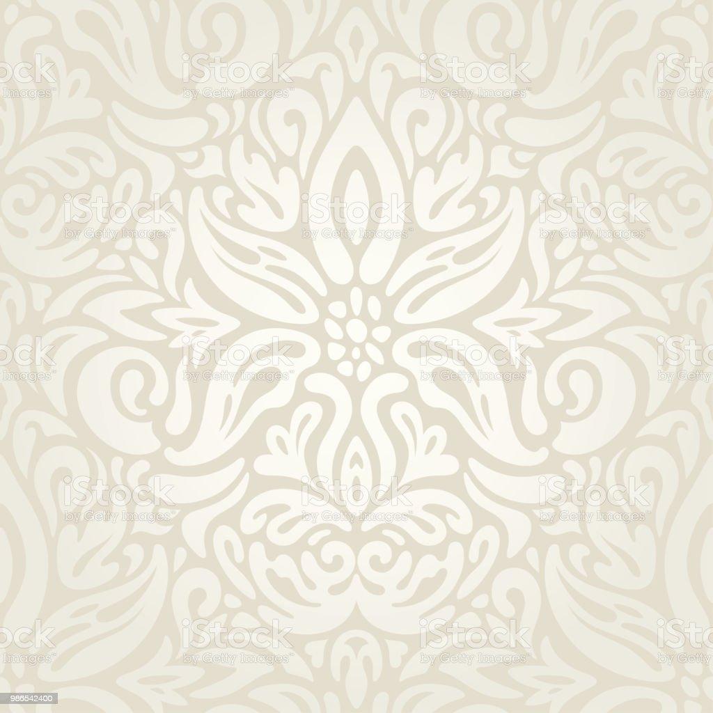Wedding Floral Decorative Vintage Background Ecru Bege Pale Wallpaper Pattern Fashion Decorative Design Stock Illustration Download Image Now