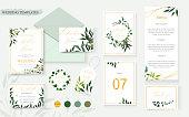 istock Wedding floral gold invitation card envelope save the date rsvp menu table 1041124760