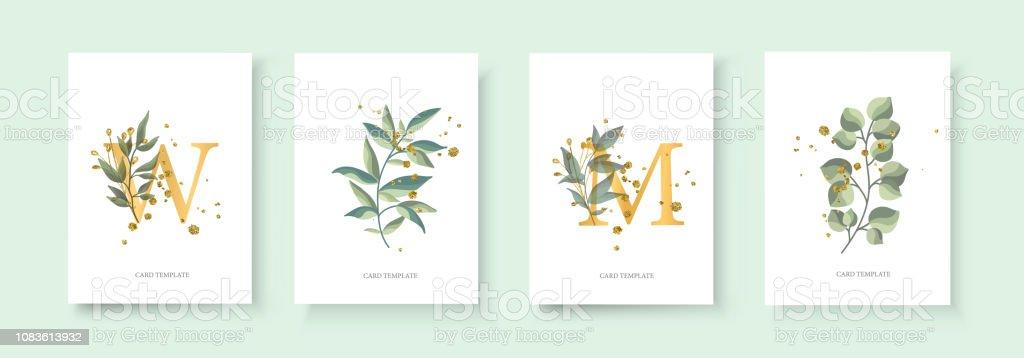 Enveloppe carte invitation or floral enregistrer la date de mariage enveloppe carte invitation or floral enregistrer la date de mariage vecteurs libres de droits et plus d'images vectorielles de a la mode libre de droits