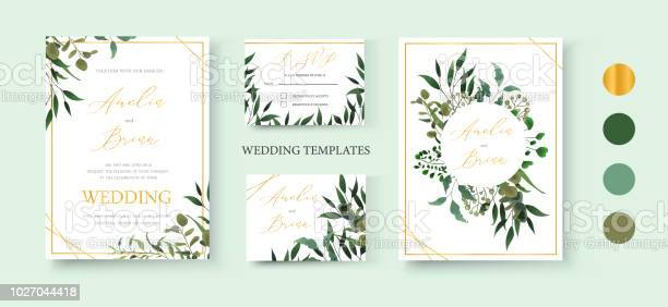 Wedding floral golden invitation card save the date rsvp design vector id1027044418?b=1&k=6&m=1027044418&s=612x612&h=y2i5k4hp4kztt4od4iotldus0zjvixkxbqmr6jozv7e=