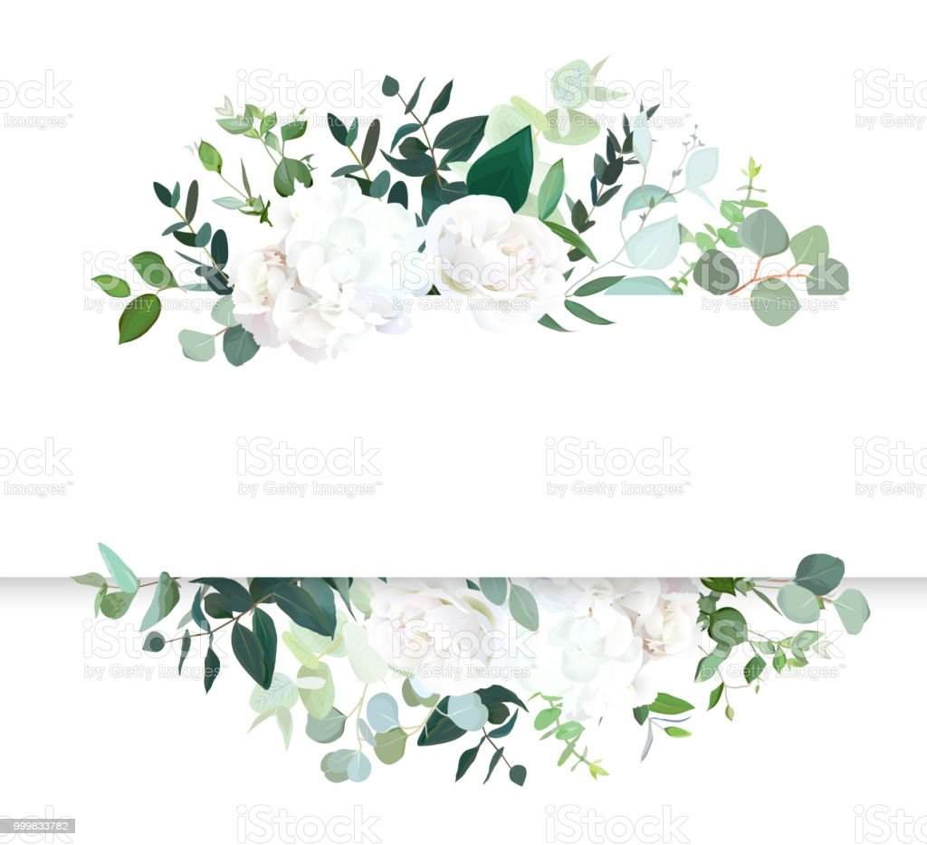 Wedding floral horizontal vector design banner.