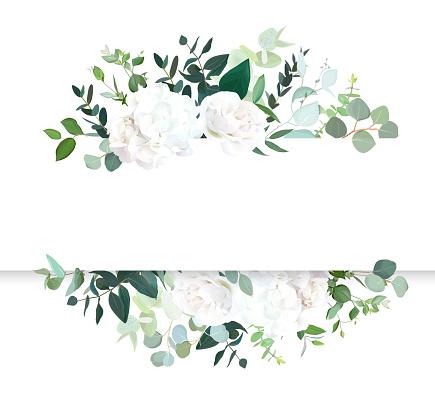 Wedding floral horizontal vector design banner.