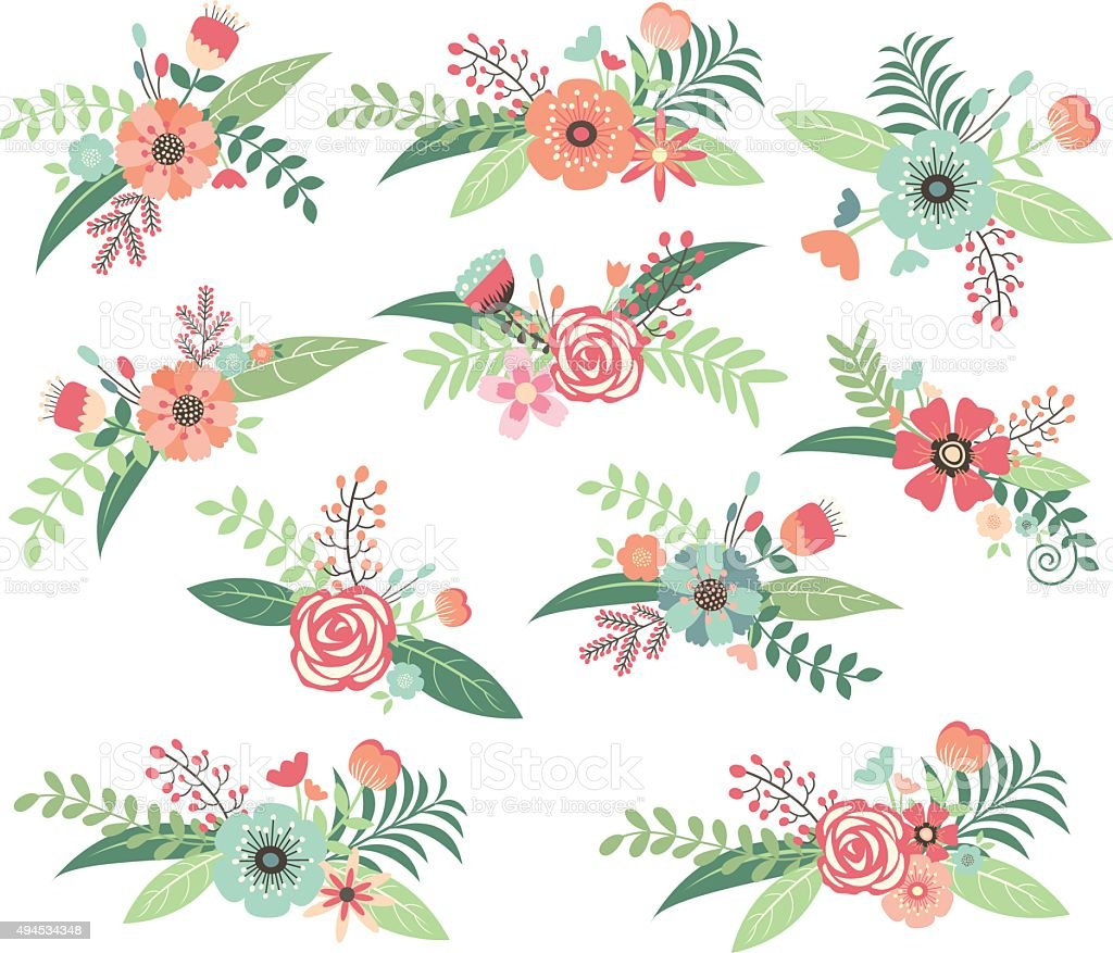 Wedding FlowerWedding Floral Collection Royalty Free Stock Vector Art