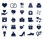wedding glyph icon set , designed for web and app