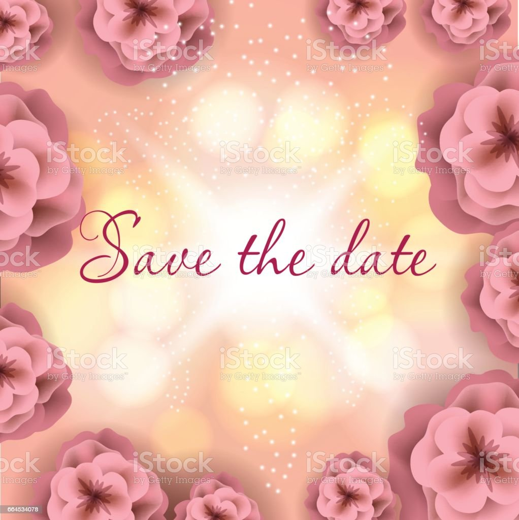 Wedding greating card, save the date, beautiful vector flowers. royalty-free wedding greating card save the date beautiful vector flowers stock vector art & more images of art