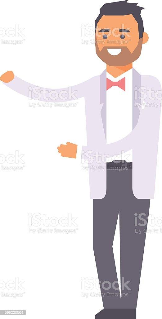 Wedding groom man vector isolated ilustração de wedding groom man vector isolated e mais banco de imagens de adulto royalty-free