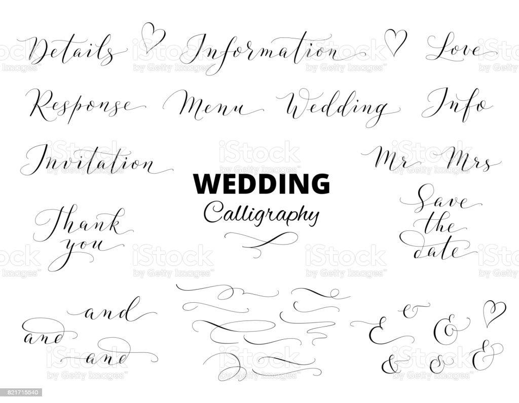 手書き書道セットに分離されたホワイトの結婚式結婚式の招待状カードバナー写真オーバーレイに最適です Thank Youのベクターアート素材や画像を多数ご用意 Istock