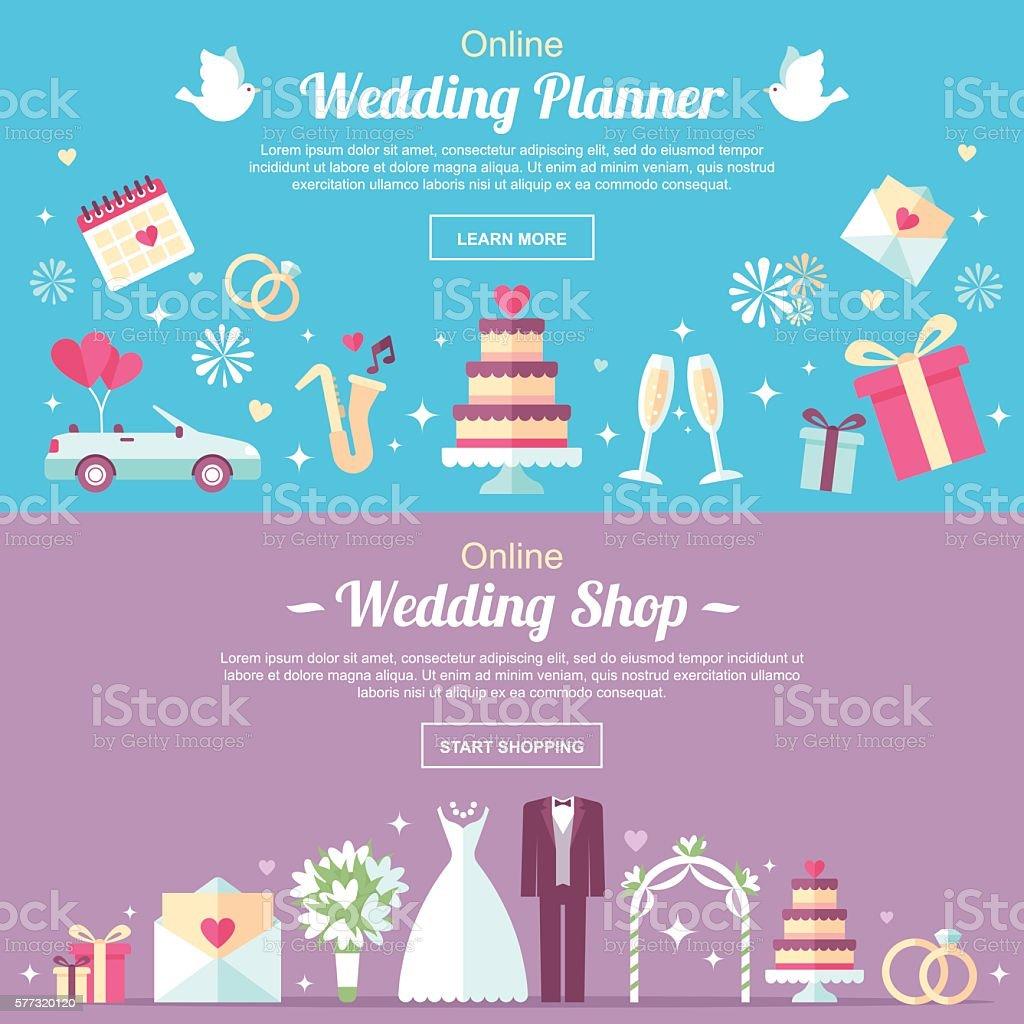 Wedding header vector art illustration