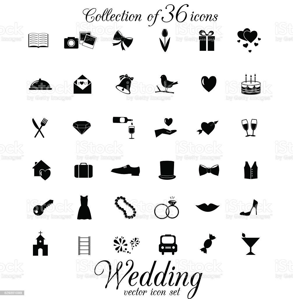 Wedding icon isolated on white background. vector art illustration