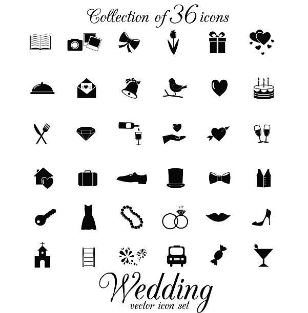 ウェディングのアイコンの白い背景で隔離されます。 - 結婚式点のイラスト素材/クリップアート素材/マンガ素材/アイコン素材