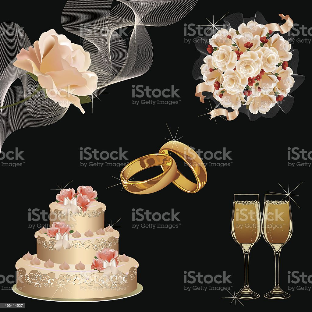 Wedding icon set royalty-free wedding icon set stock vector art & more images of black background