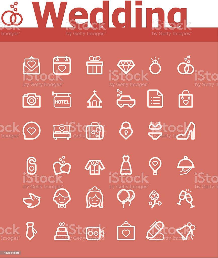 Wedding icon set royalty-free stock vector art