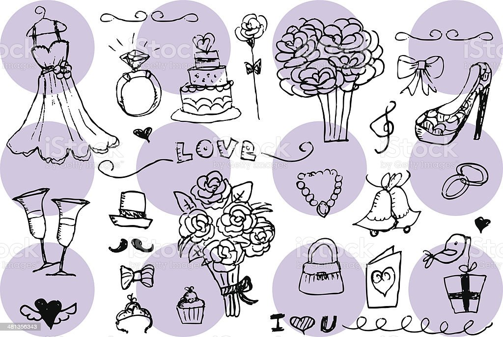 Wedding icon vector art illustration