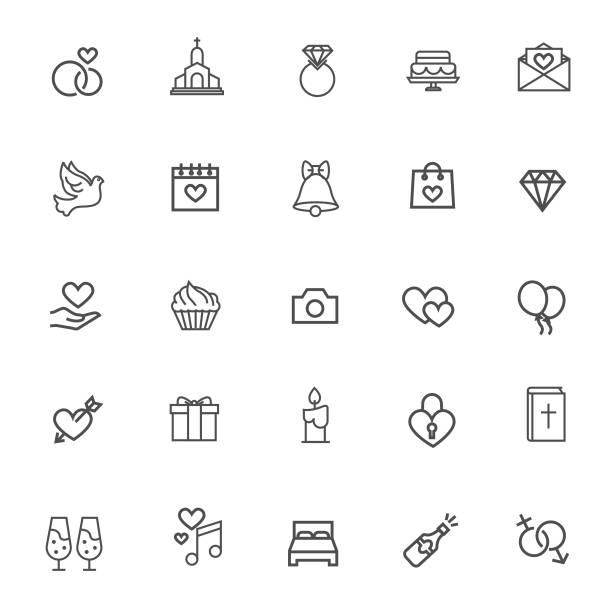 hochzeit-symbol - kirchenschmuck stock-grafiken, -clipart, -cartoons und -symbole