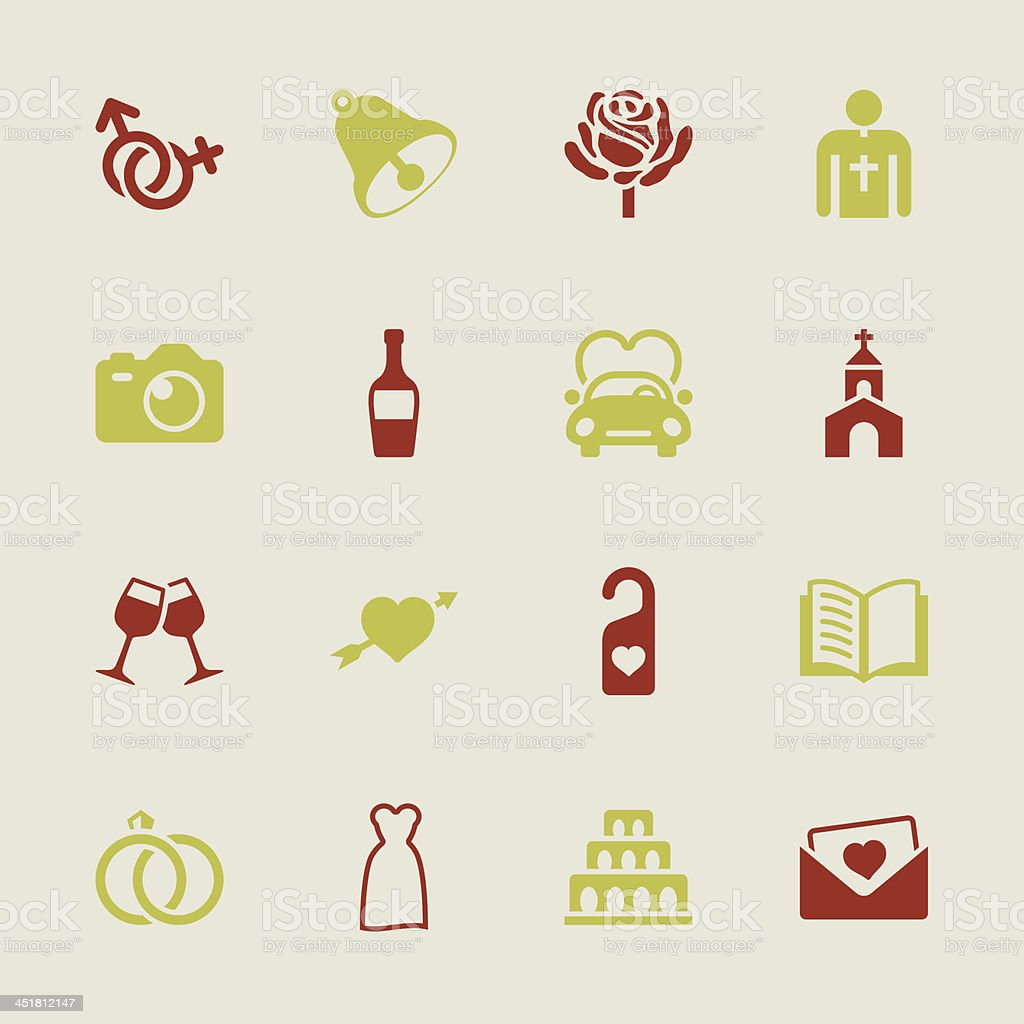Wedding Icons - Color Series | EPS10 royalty-free stock vector art