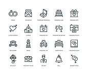 Wedding Icons - Line Series