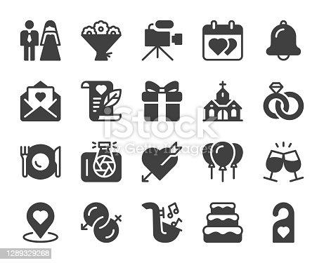 istock Wedding - Icons 1289329268