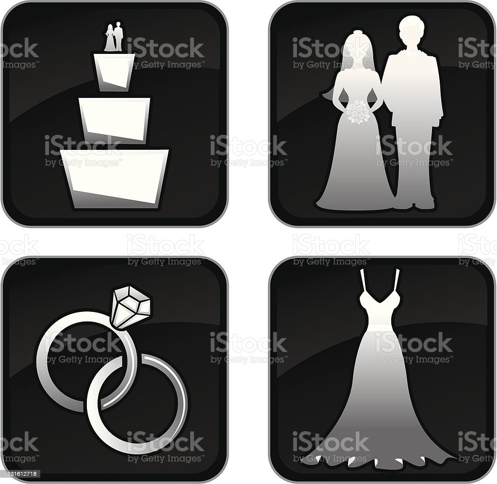 Wedding Icons royalty-free wedding icons stock vector art & more images of black color
