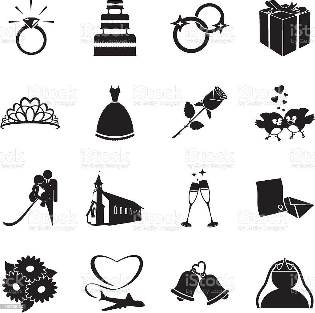 Hochzeit Symbole Stock Vektor Art Und Mehr Bilder Von Blume