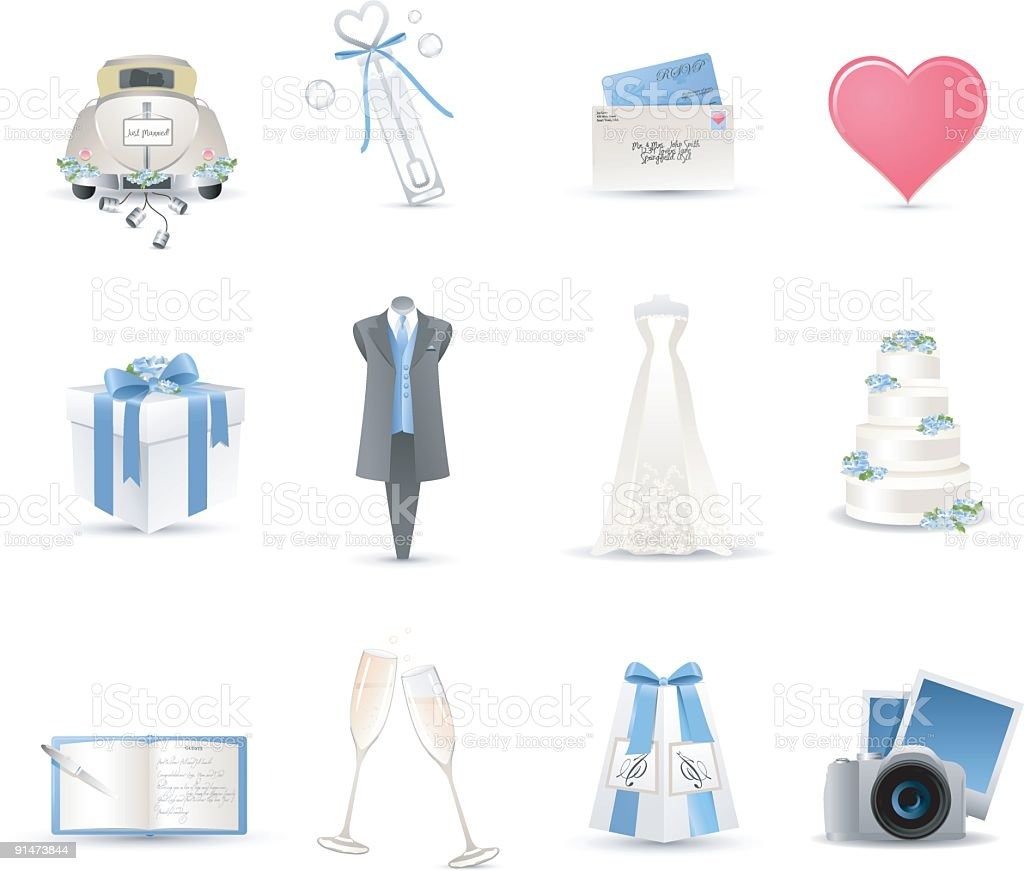 Wedding Icons royalty-free stock vector art