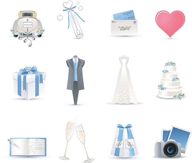 hochzeit symbole - rosenhochzeitskleider stock-grafiken, -clipart, -cartoons und -symbole