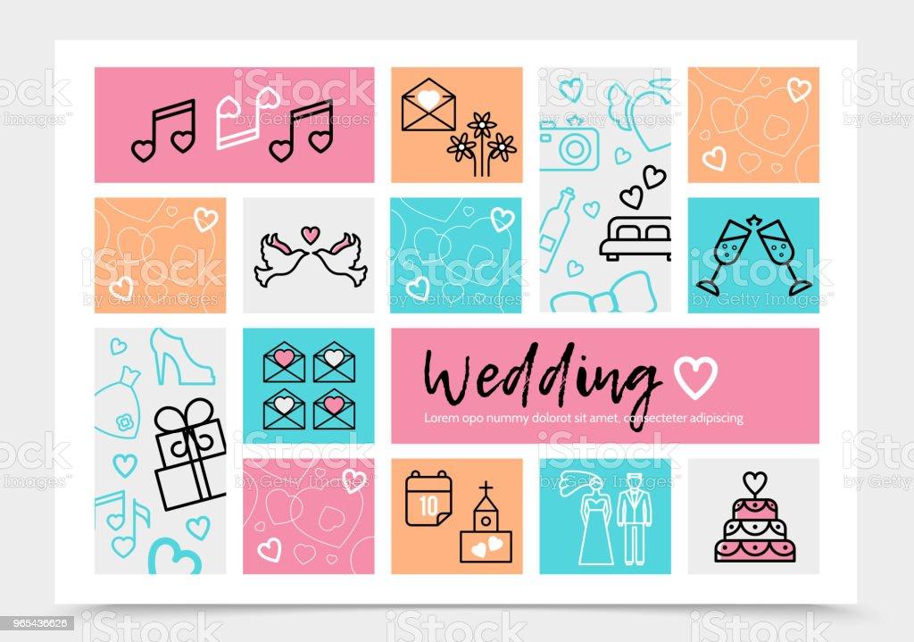Wedding Infographic Template wedding infographic template - stockowe grafiki wektorowe i więcej obrazów baner royalty-free