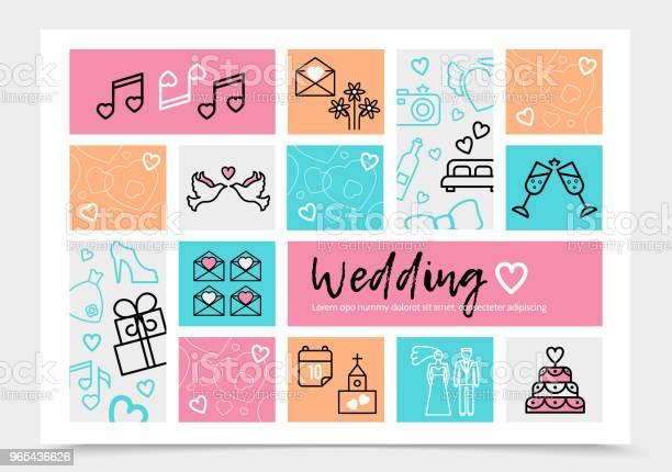 Vetores de Casamento Modelo Infográfico e mais imagens de A Data