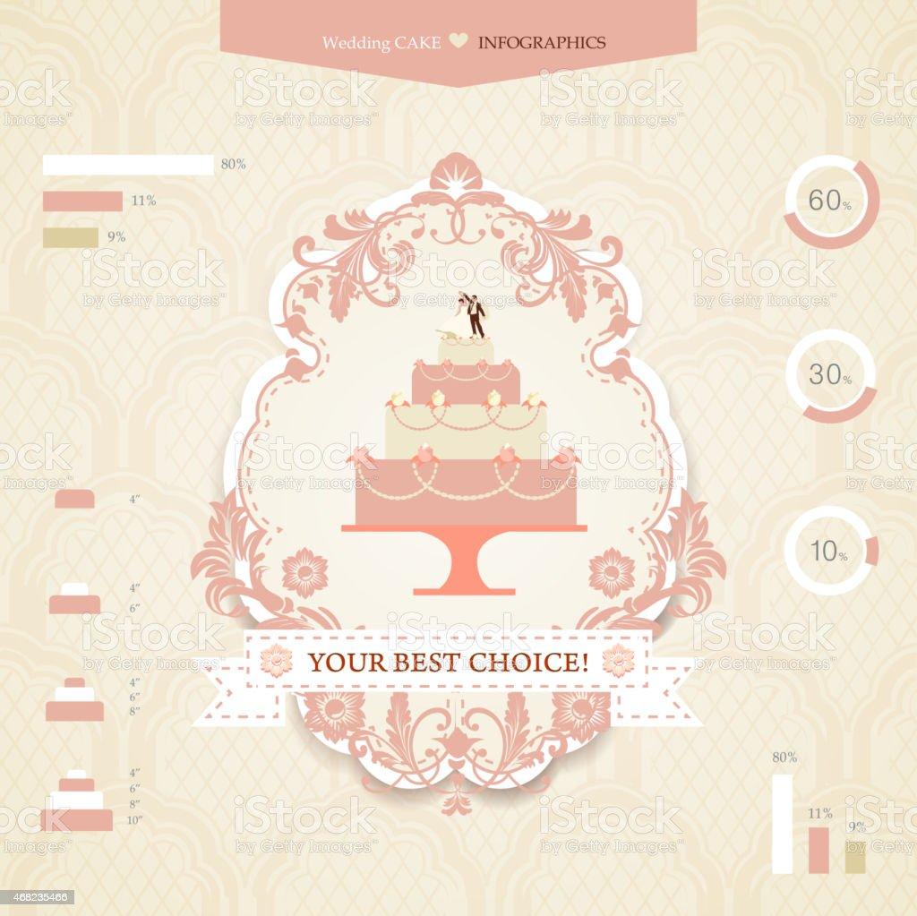 Wedding infographics vector art illustration