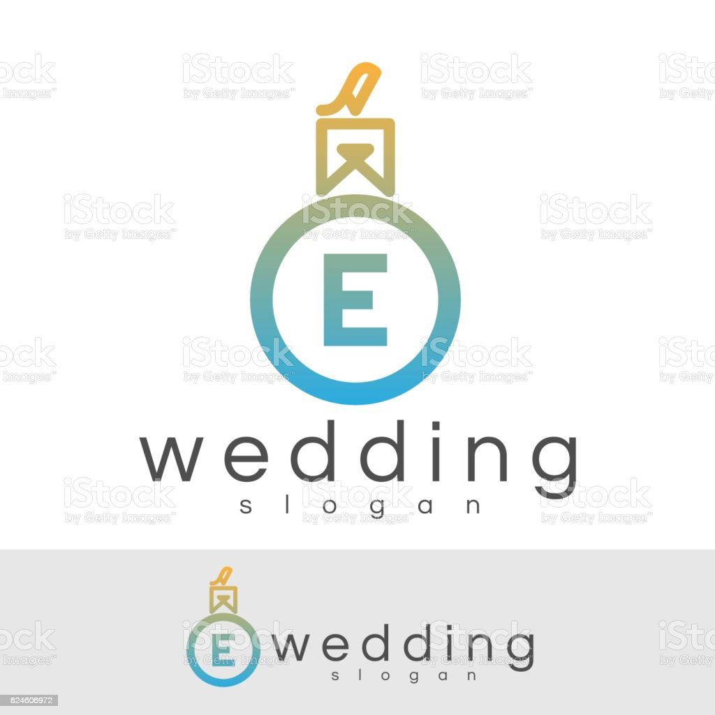 Wedding Initial Letter E Icon Design Stock Vector Art More Images