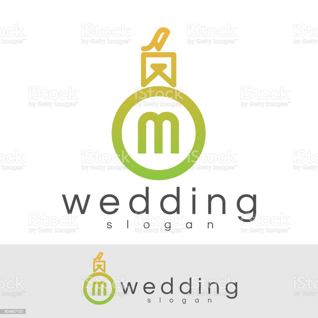 Wedding Initial Letter M Icon Design Stock Vector Art More Images