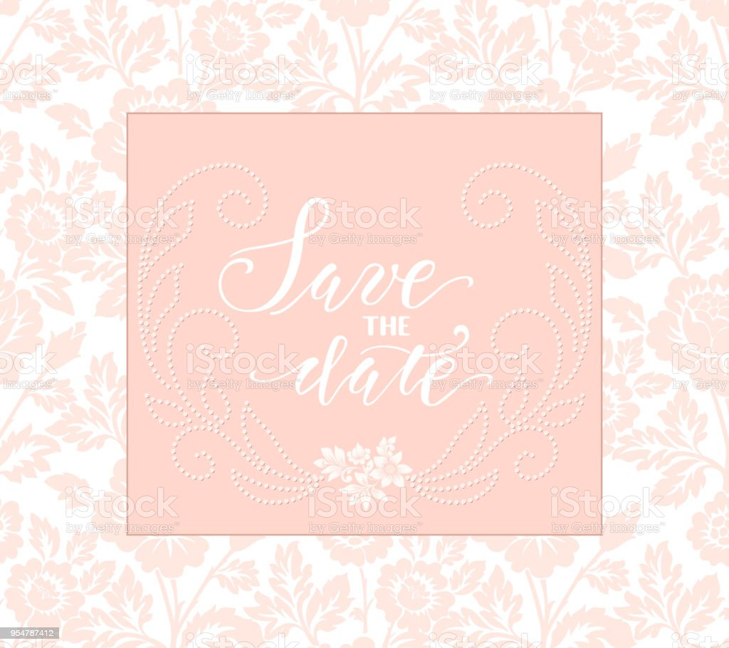 Wedding Invitation And Announcement Card With Floral